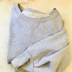 Zella Oversize scrunch Sleeve Crewneck Sweater XL